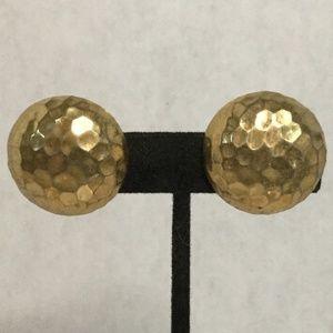 St. John Vintage Gold Tone Clip On Earrings